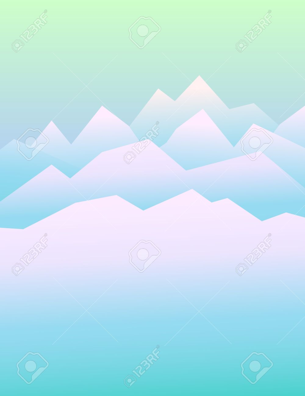peaceful mountains in winter highlands landscape vector peaceful mountains in winter highlands landscape vector background for booklet flyer outdoor