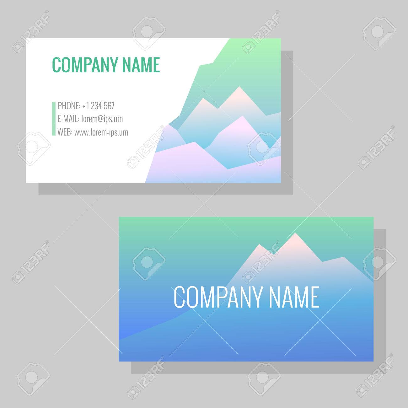 Vector template for business cards image of snowy mountains vector vector template for business cards image of snowy mountains business card or flyer for a travel agency or a sports shop reheart Gallery
