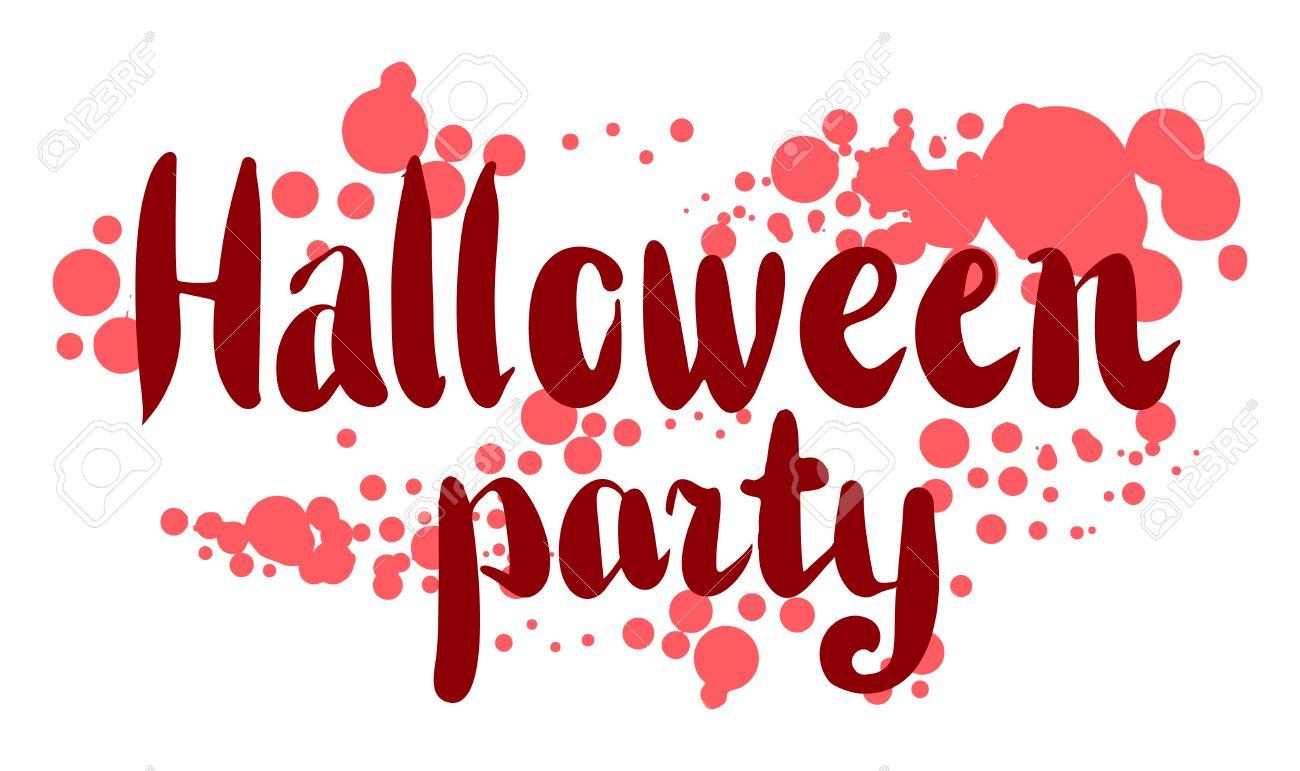 El 31 De De Octubre De Letras Felicitación O Tarjeta De Invitación Elemento De Diseño Dibujado A Mano Ilustración Incompleta Partido De Halloween