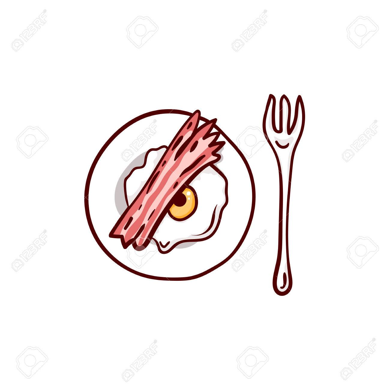 Bacon And Eggs With Eyeball And Meat Paw Halloween Lunch Clip Art