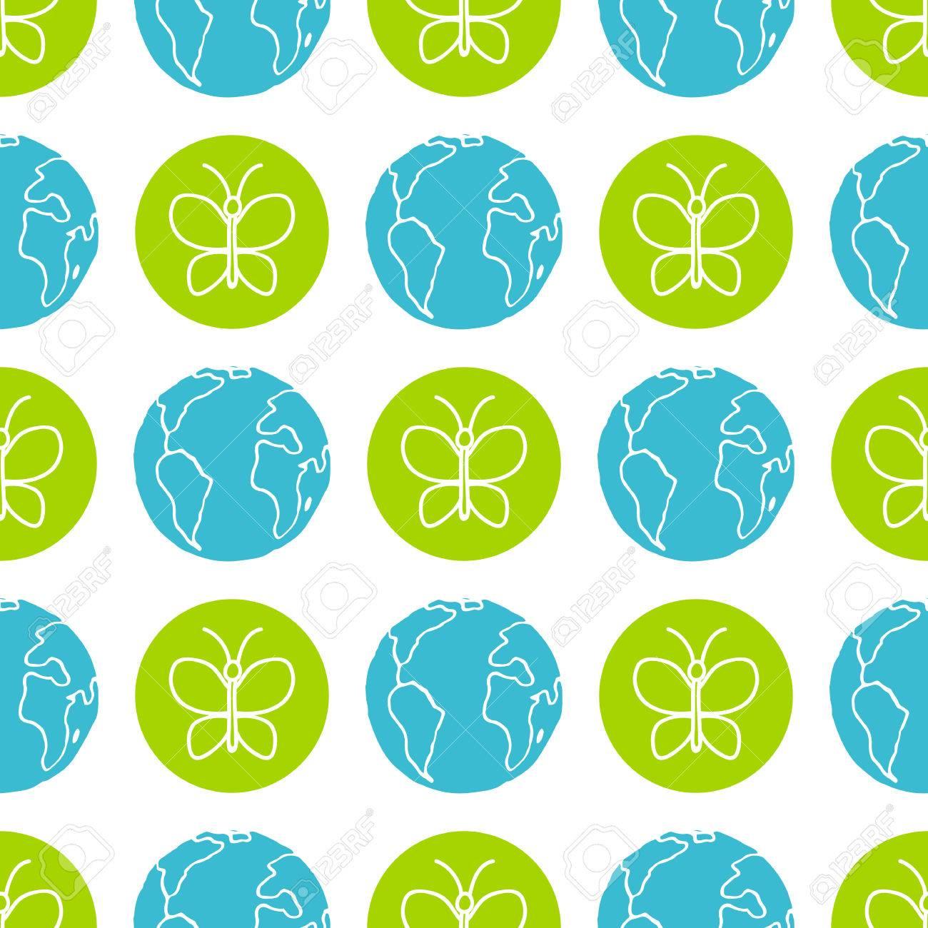 World Wildlife Day Tileable Background Vector Design Element