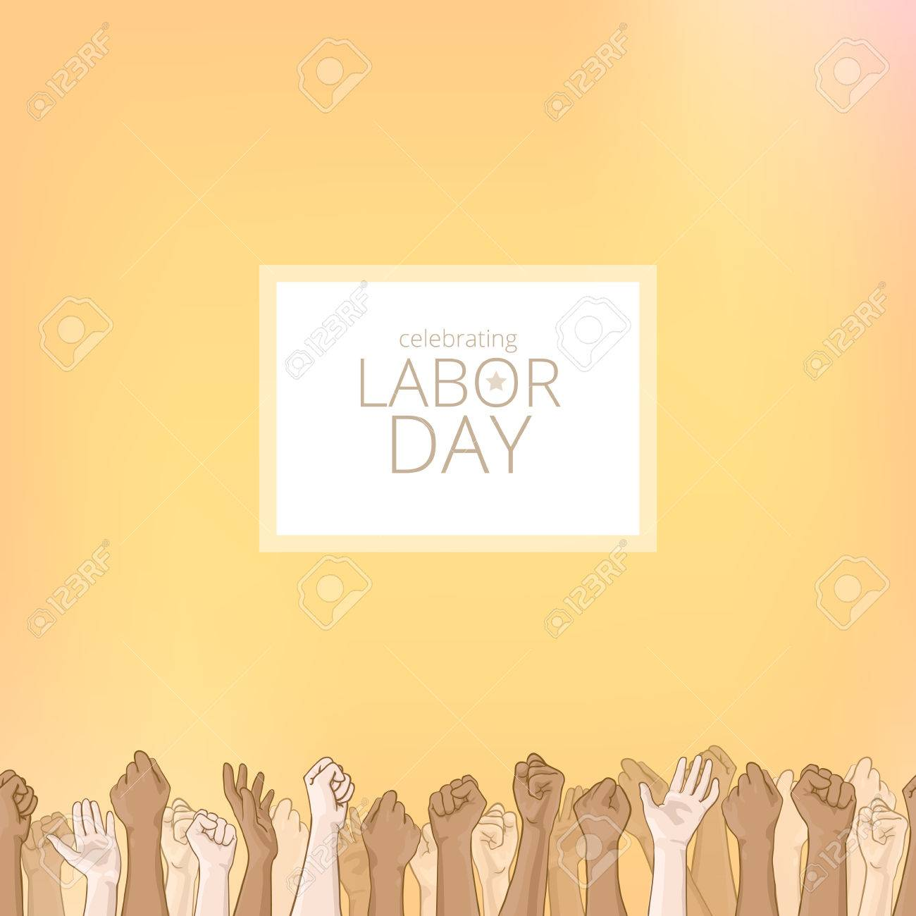 Labor Day Background Card With Seamless Border