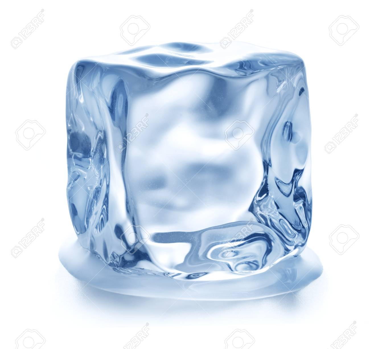 arrives super quality popular brand single ice cube isolated on white background