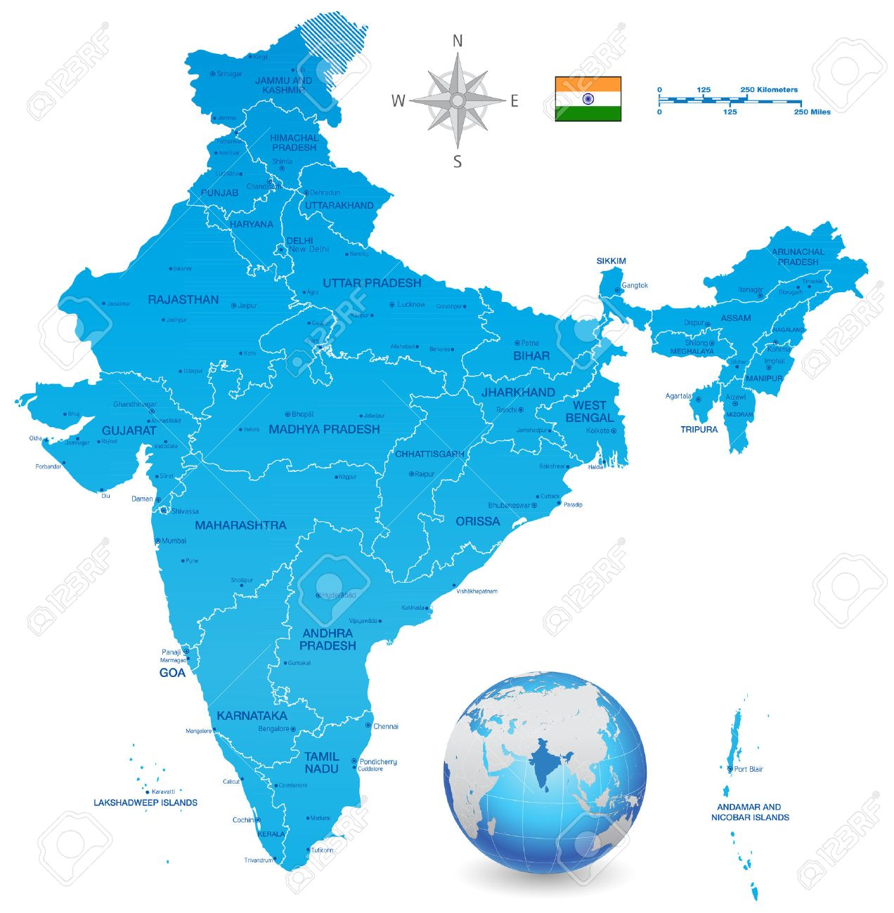 A high detail vector map of the republic of india federation a high detail vector map of the republic of india federation states and union territories and gumiabroncs Image collections