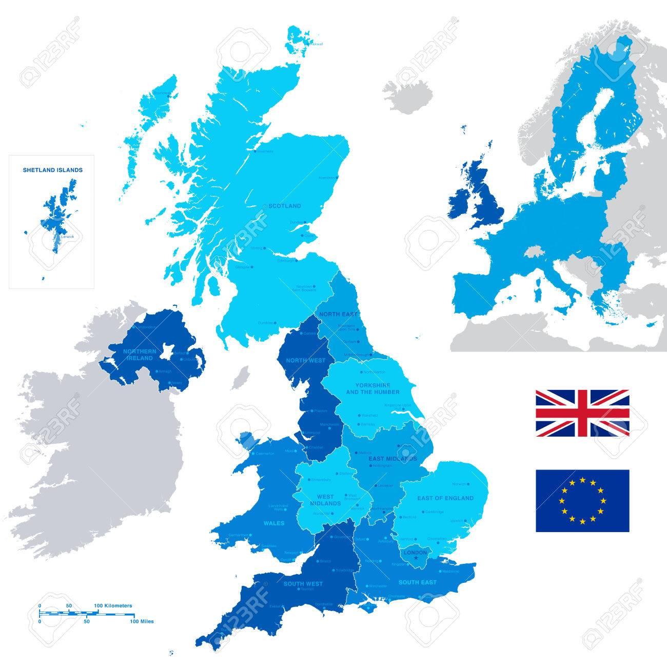 Cartina Regno Unito Con Regioni.Vettoriale A High Particolare Vettore Mappa Del Regno Unito Regioni Le Regioni Amministrative E Grandi Citta E Una Minimappa Con La Gran Bretagna E Ue Evidenziato Image 43266369