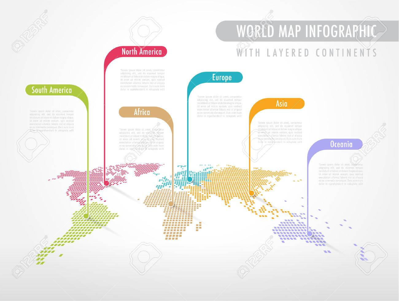 Perspective pixelated world map with labels pointing each continent perspective pixelated world map with labels pointing each continent stock vector 44549038 gumiabroncs Choice Image