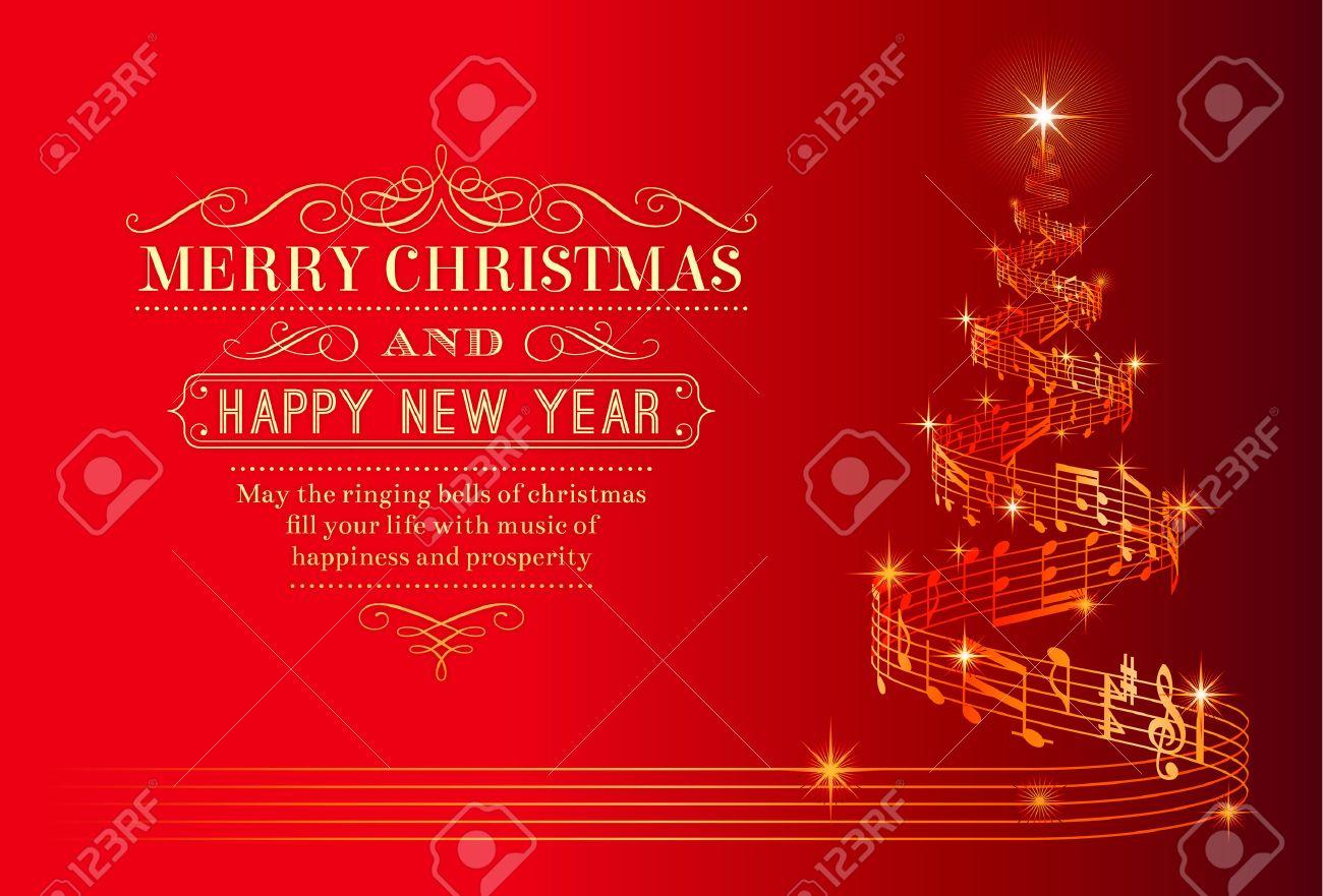Une Belle Carte De Voeux De Noël Avec Un Arbre De Noël Composé D