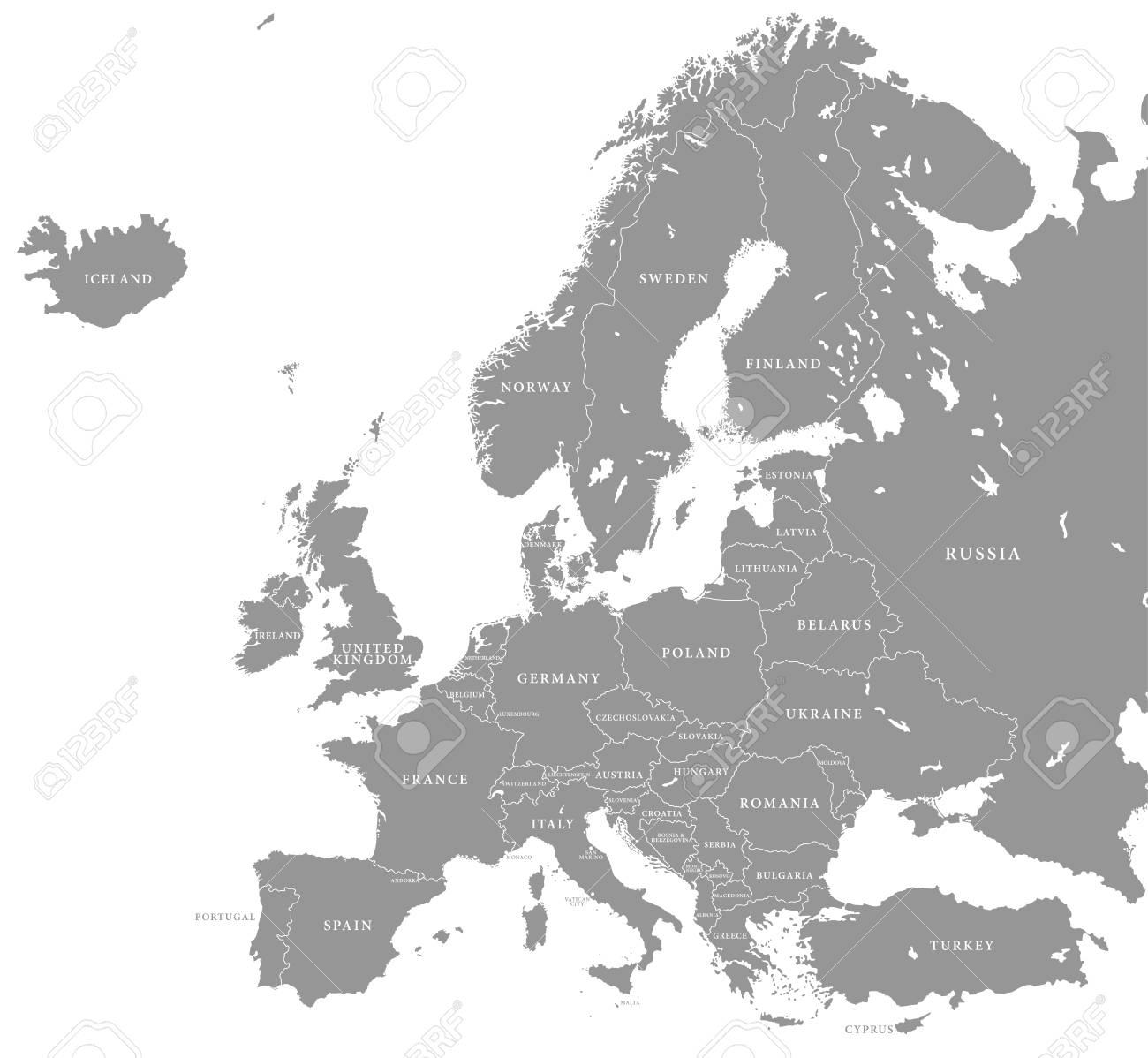 暗い欧州諸国とグレー ヨーロッ...