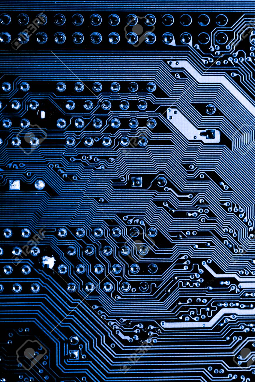 Abstract Close Up Of Electronic Circuits In Technology On Mainboard Circuit And Logic Design Computer Background Board