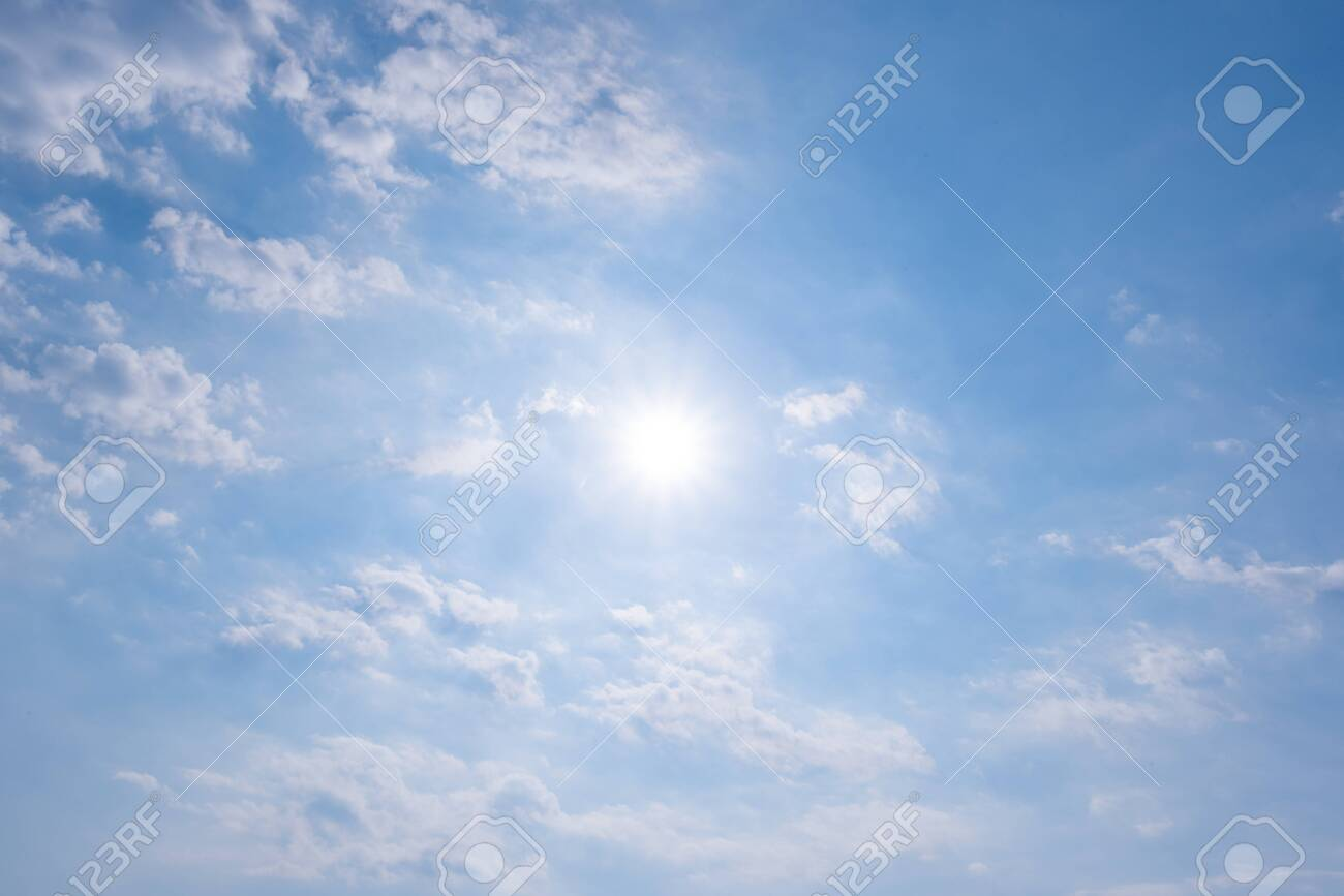 clear blue sky background,clouds with background. - 142345404
