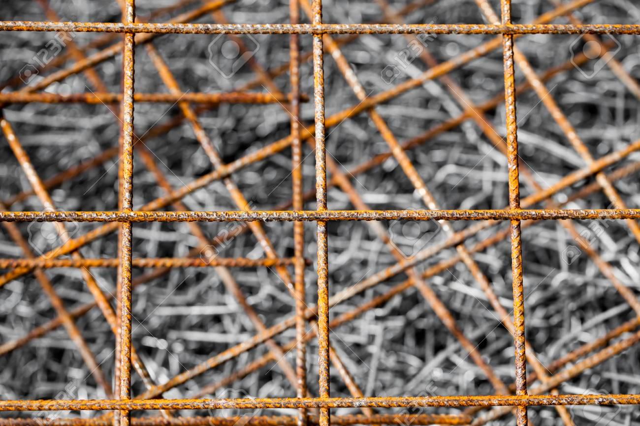 Zusammenfassung Hintergrund Der Rostigen Stahlmatten Auf Draht ...