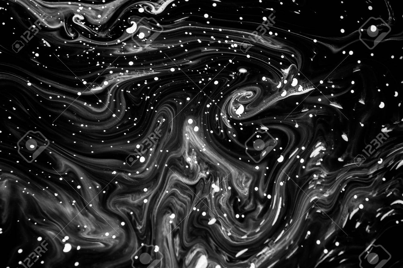 abstract texture ink on water in black and white color for background