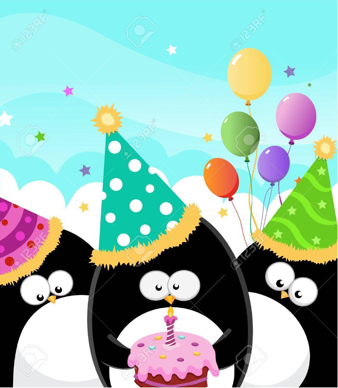Happy Birthday Card Stock Vector - 9996129