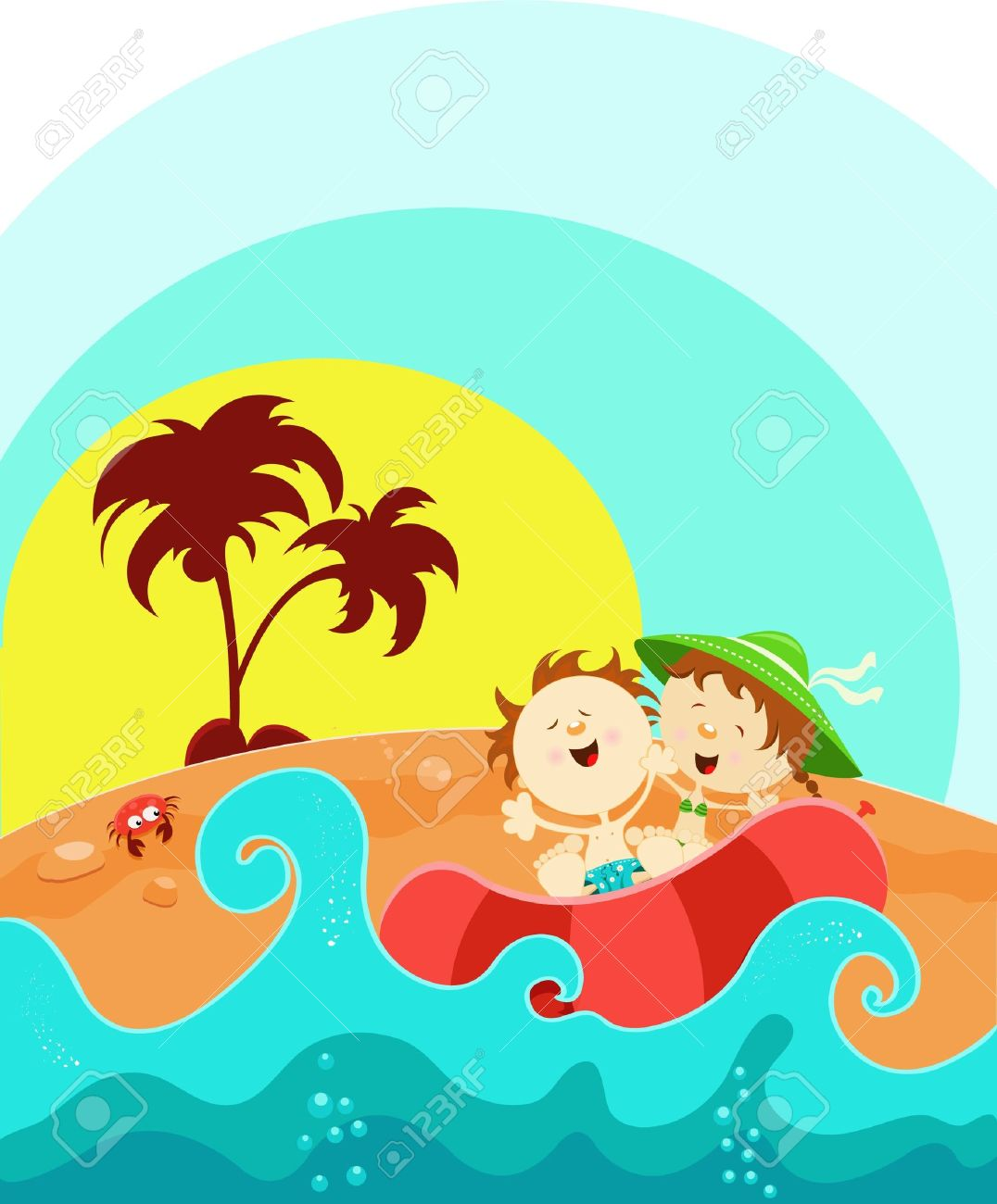 Kids Enjoying Summer Stock Vector - 10042371
