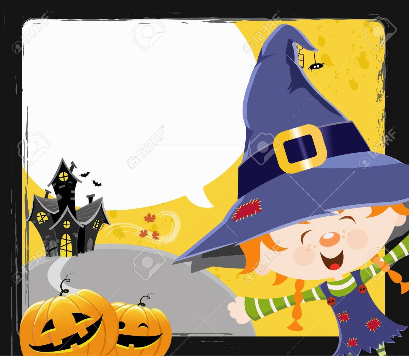 Witch Girl's Message Stock Vector - 10833474