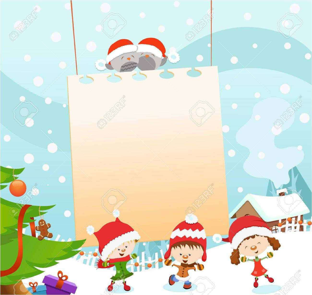 Kids\' Christmas Message Royalty Free Cliparts, Vectors, And Stock ...