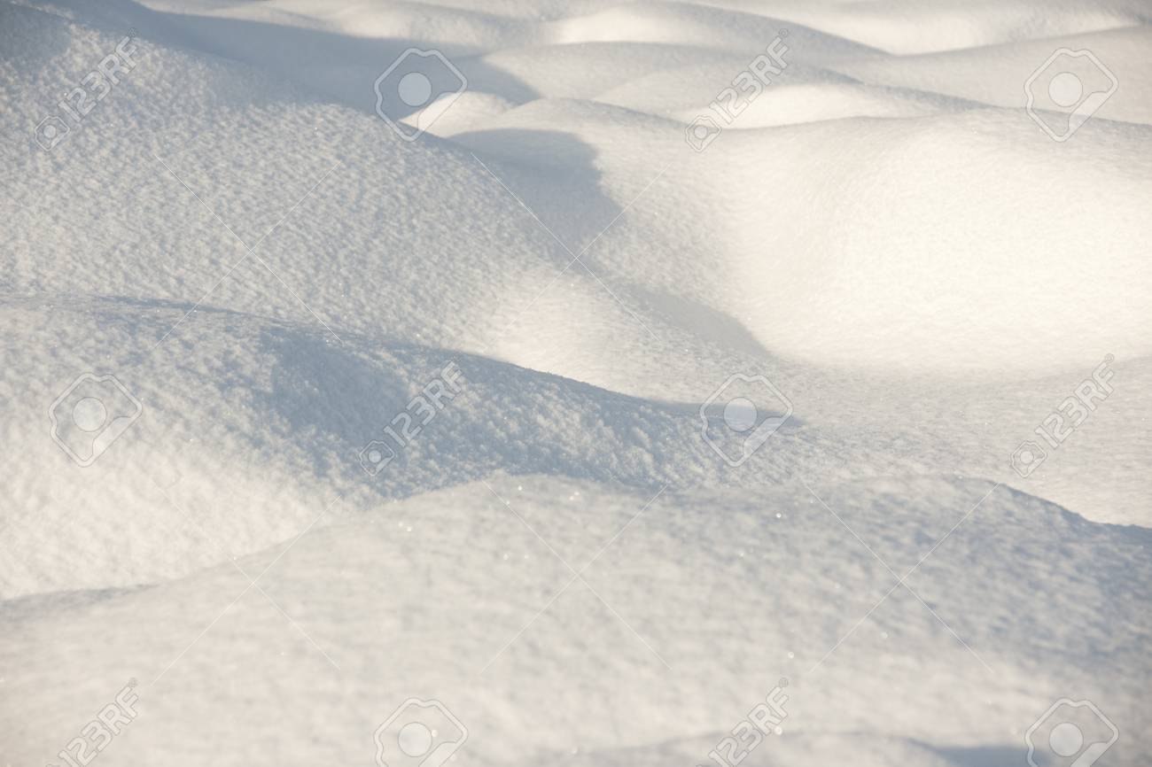 Snow surface in evening light Stock Photo - 8175475