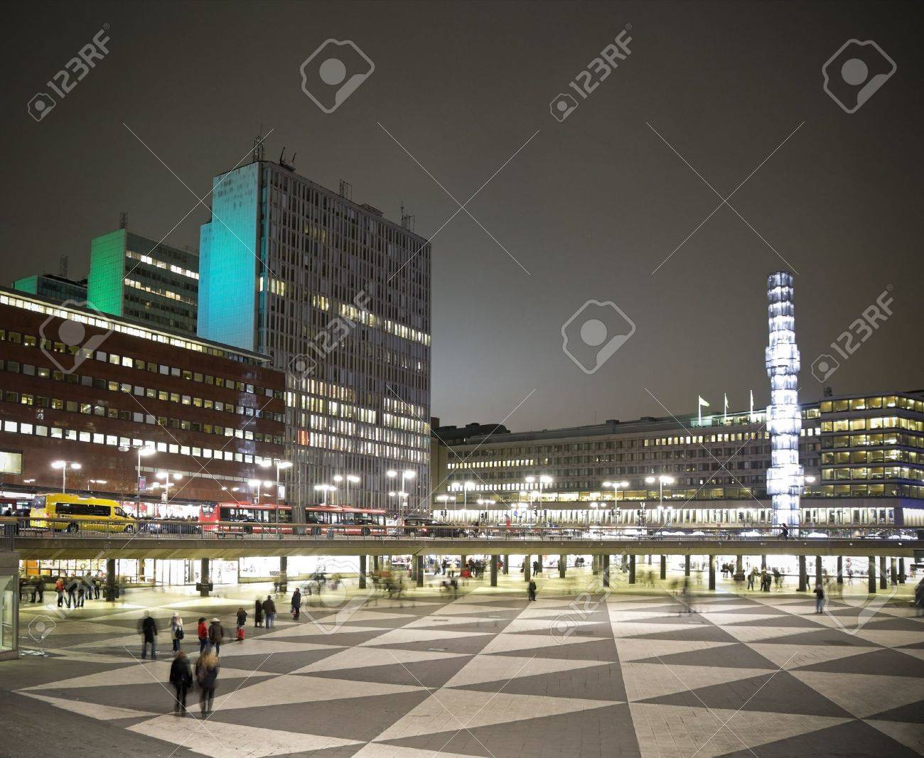 Sergels Torg, the main square in Stockholm city, Stock Photo - 8490251