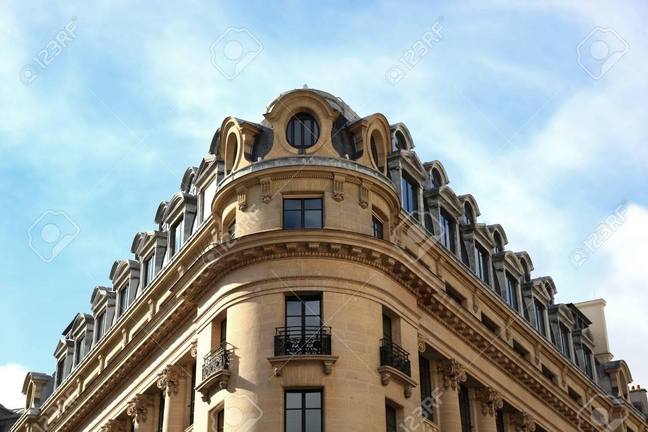 Pariser Typischen Gebude Des 9 Arrondissement In Paris Frankreich Standard Bild