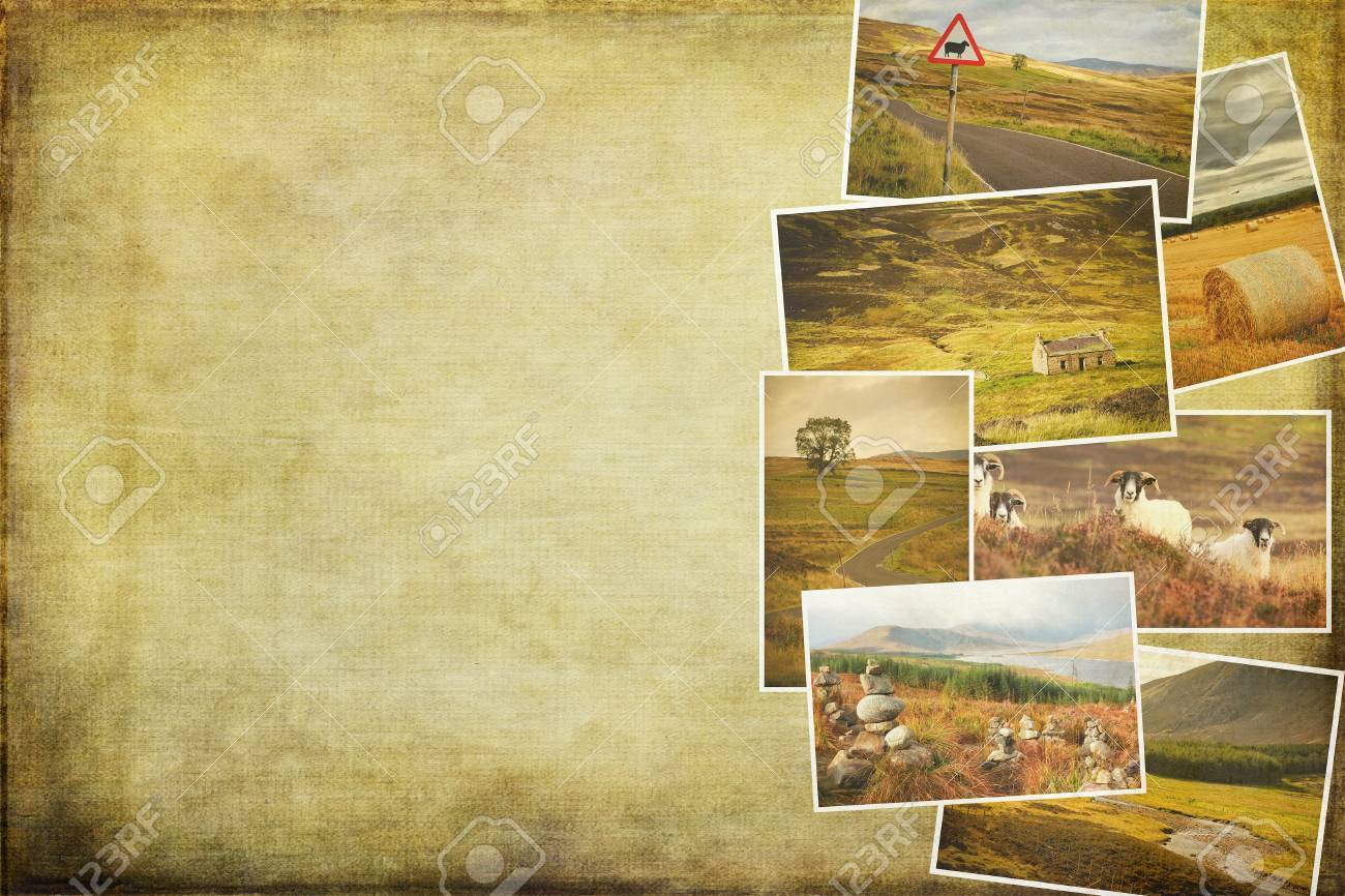 Collage Of Images From Famous Location In Scotland. Cross Processed ...
