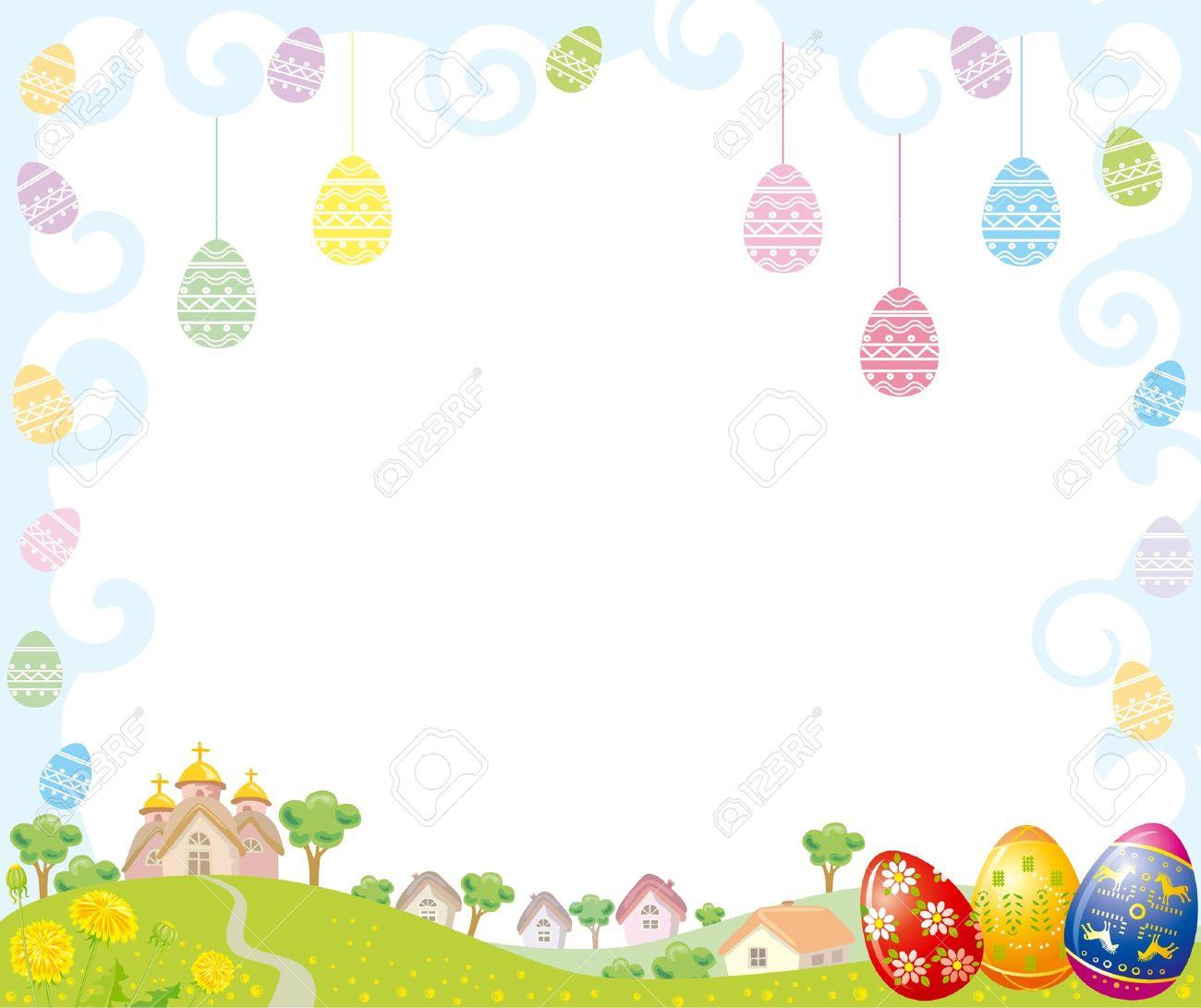 easter frame stock vector 10032781 - Easter Picture Frames
