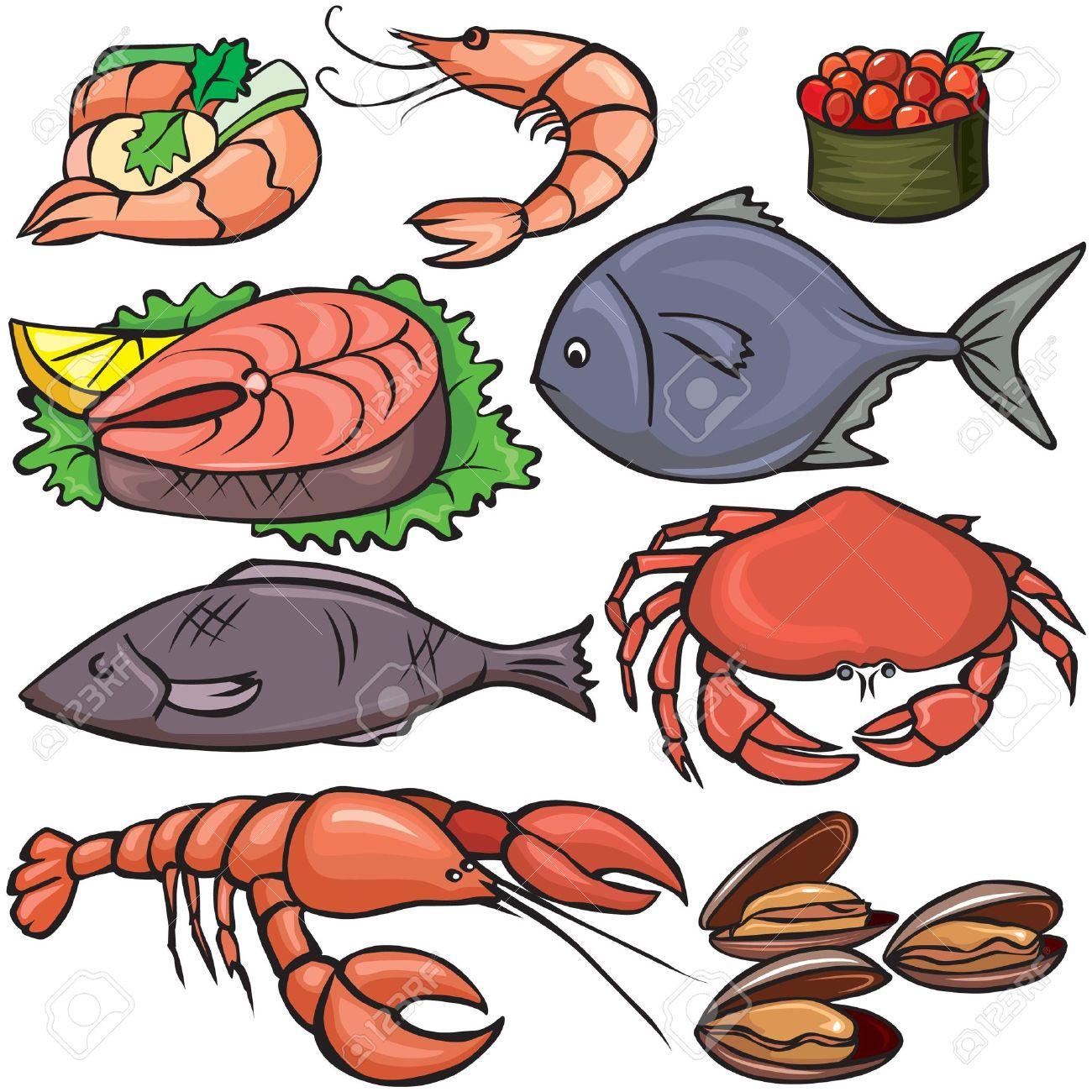 seafood icons set royalty free cliparts vectors and stock rh 123rf com Culture Clip Art Salad Culture Clip Art Salad