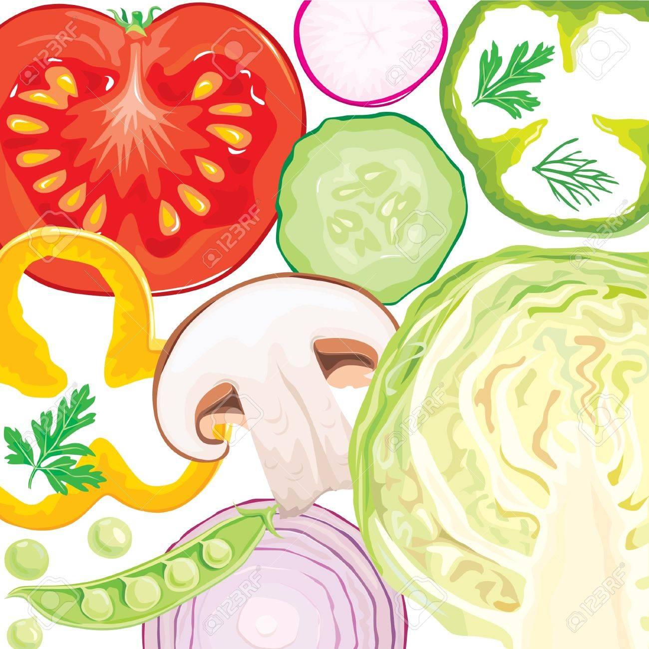 Vegetable mix Stock Vector - 10673659