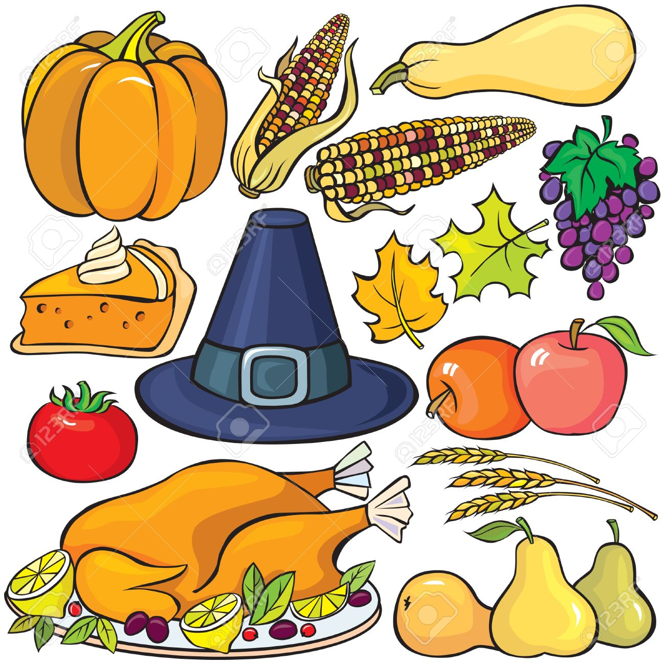Thanksgiving Day Icon Set Stock Vector - 10673671