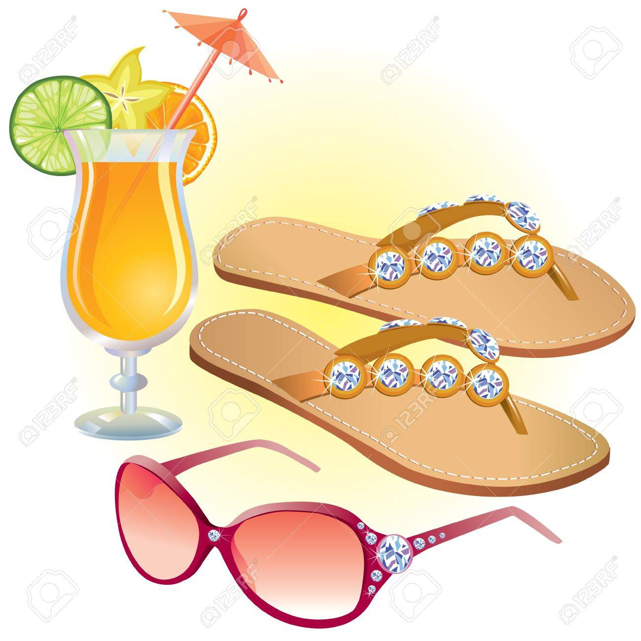 Beach accessories Stock Vector - 13070107