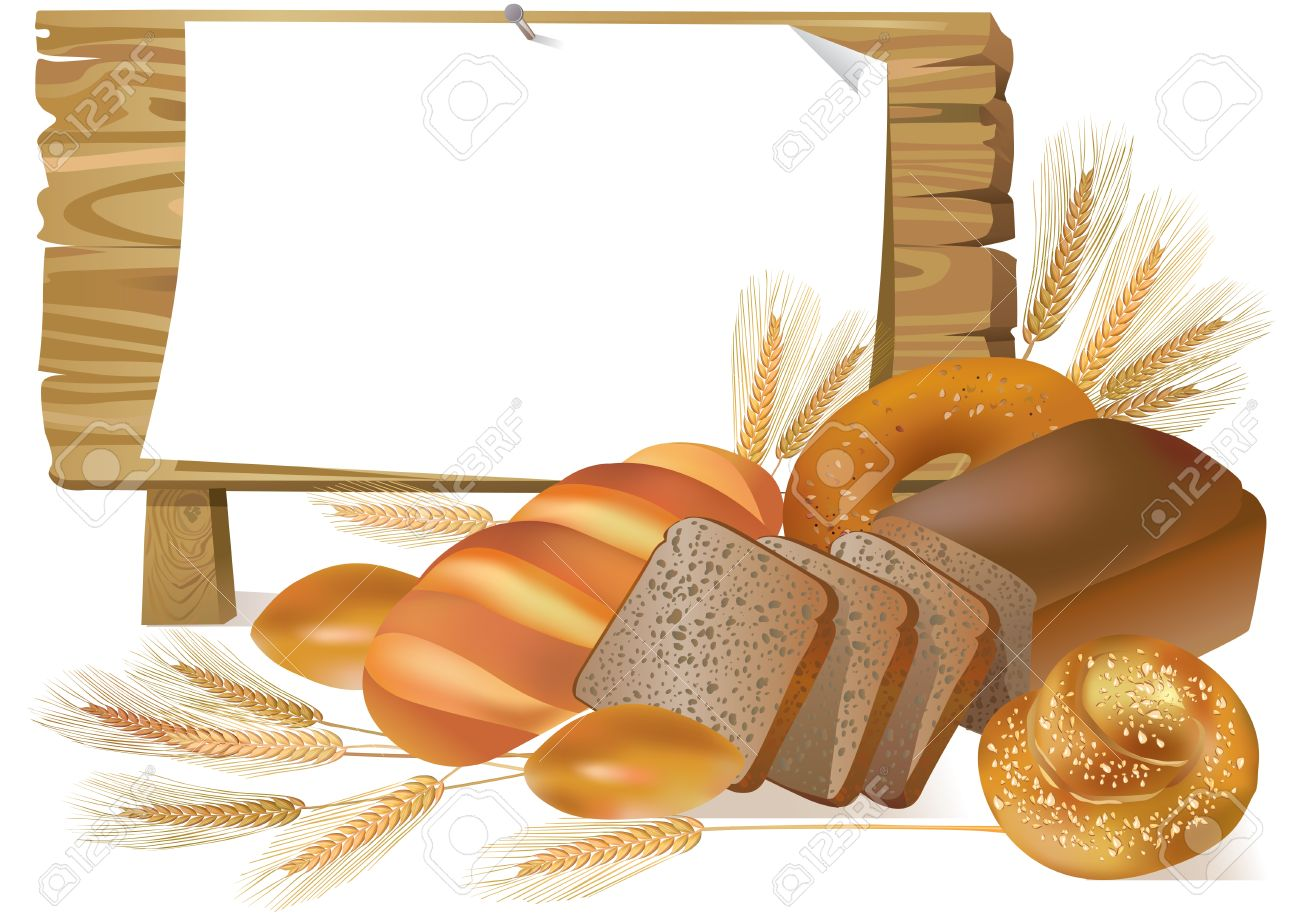 Illustration of bread with wooden board. Stock Vector - 14175722