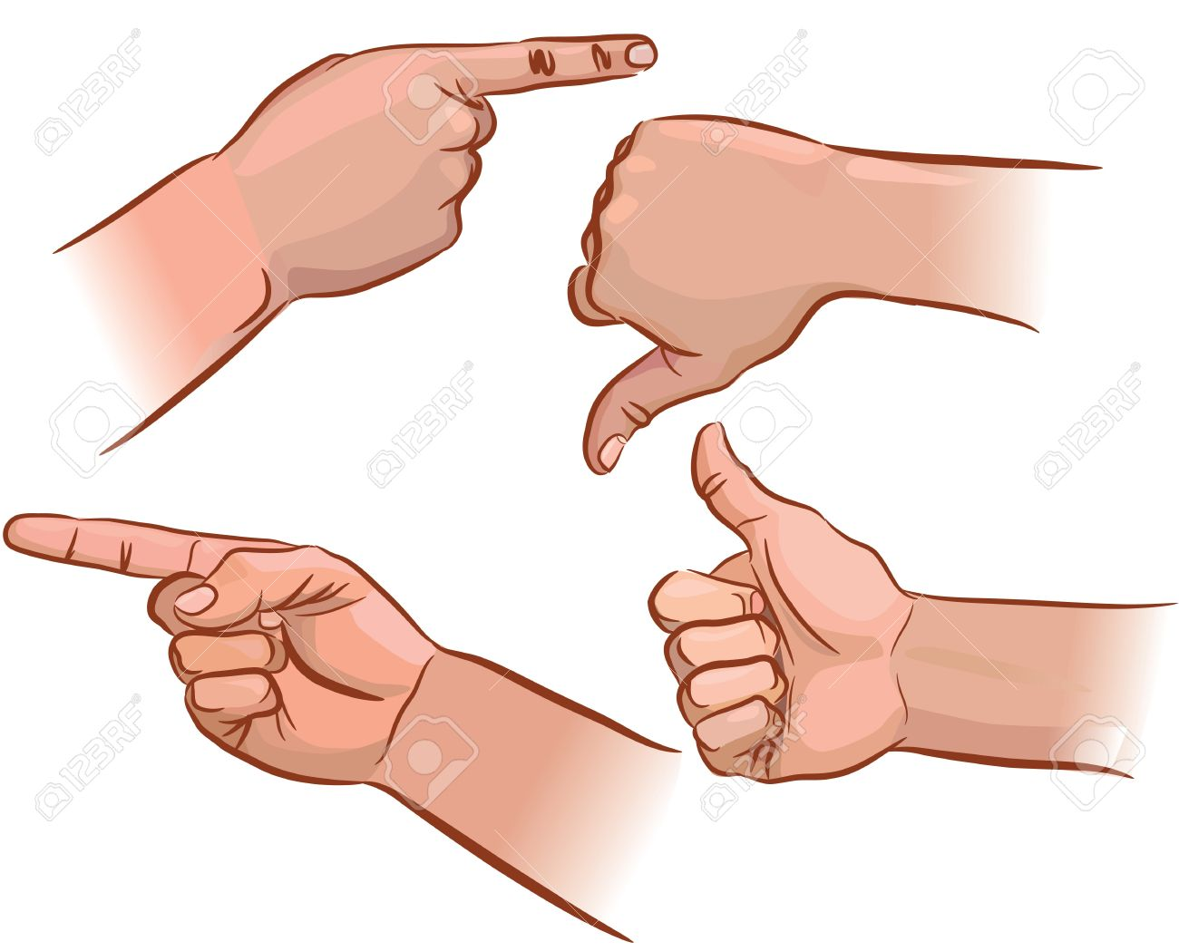 Set of hand pointers from different angles Stock Vector - 14457519