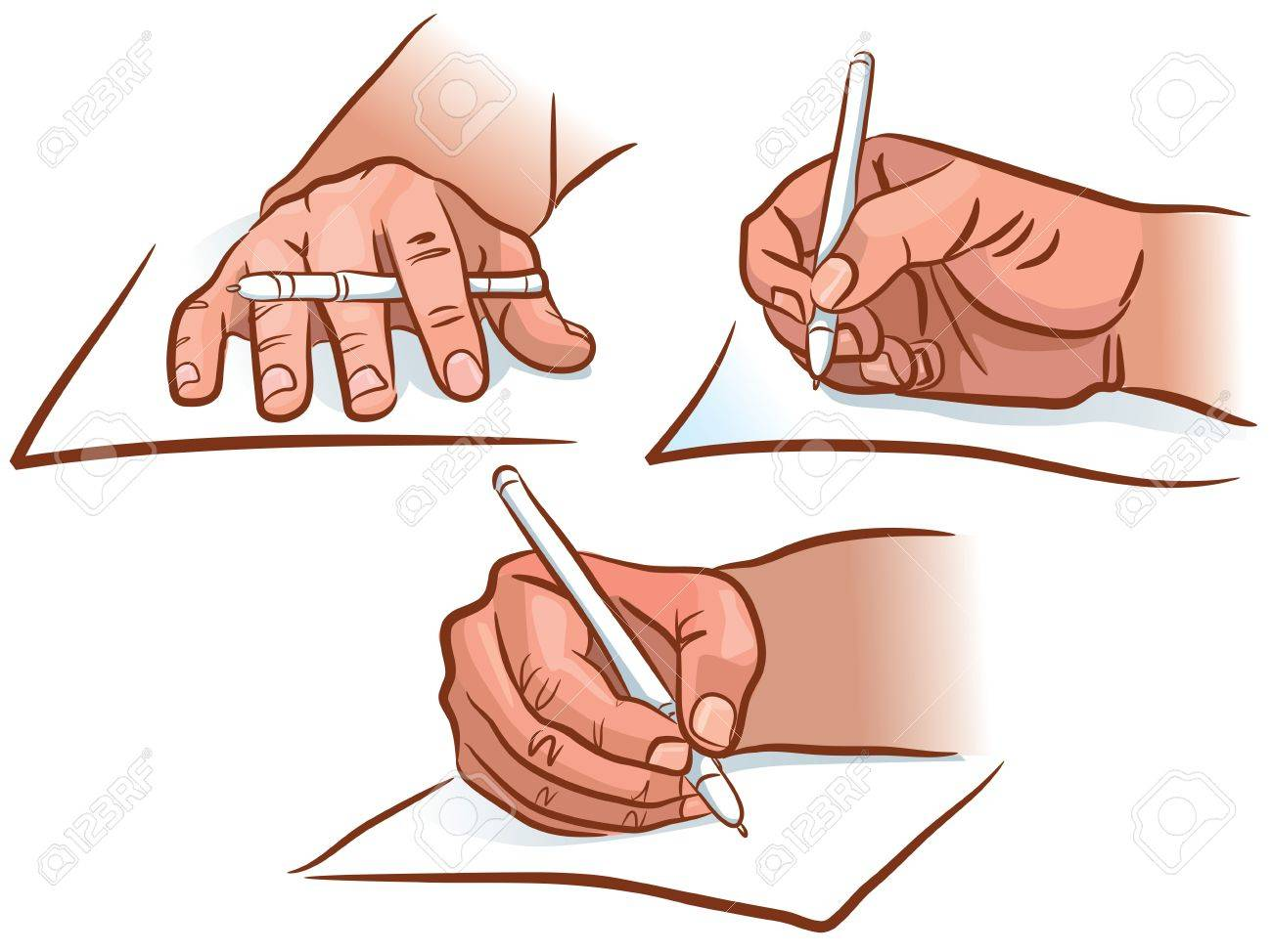 The hand writing from different angles Stock Vector - 14678888