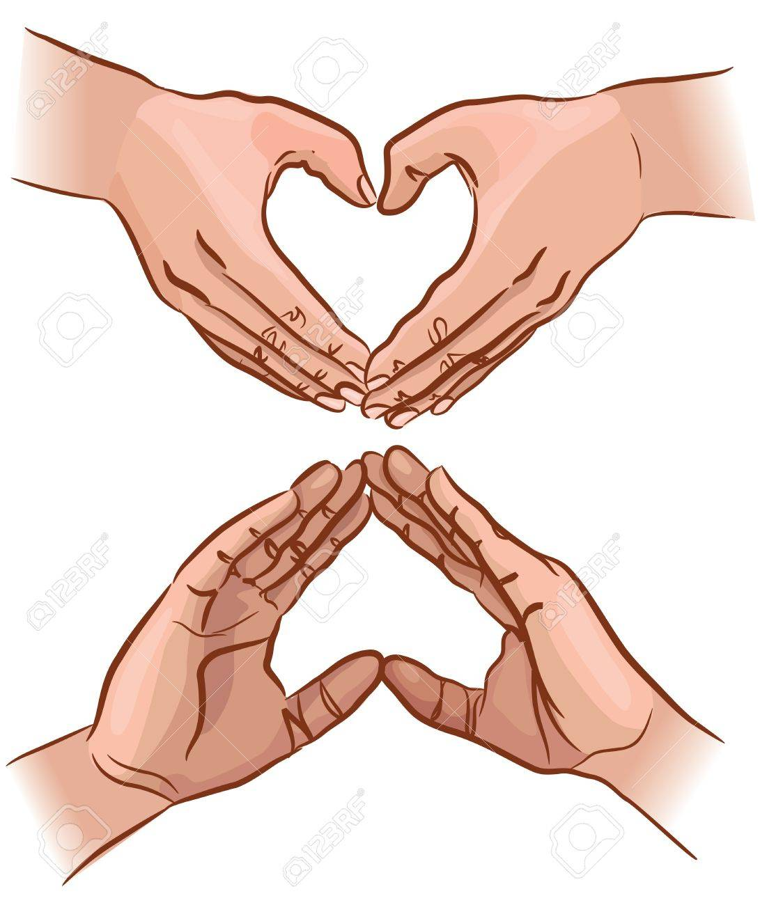 Hands show the shape of the heart Stock Vector - 14678889