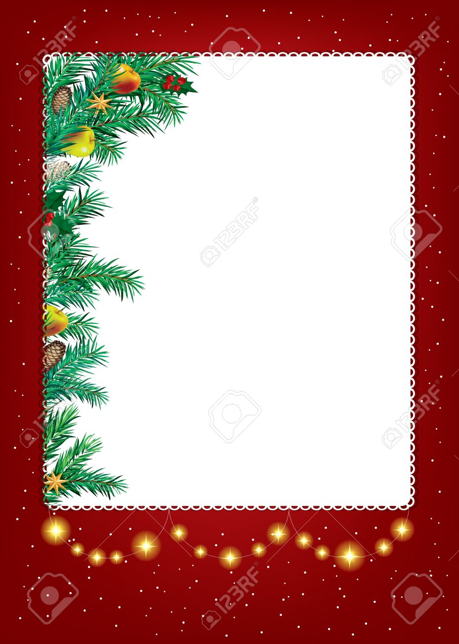 abstract beauty christmas and new year invitation background stock vector 15223353