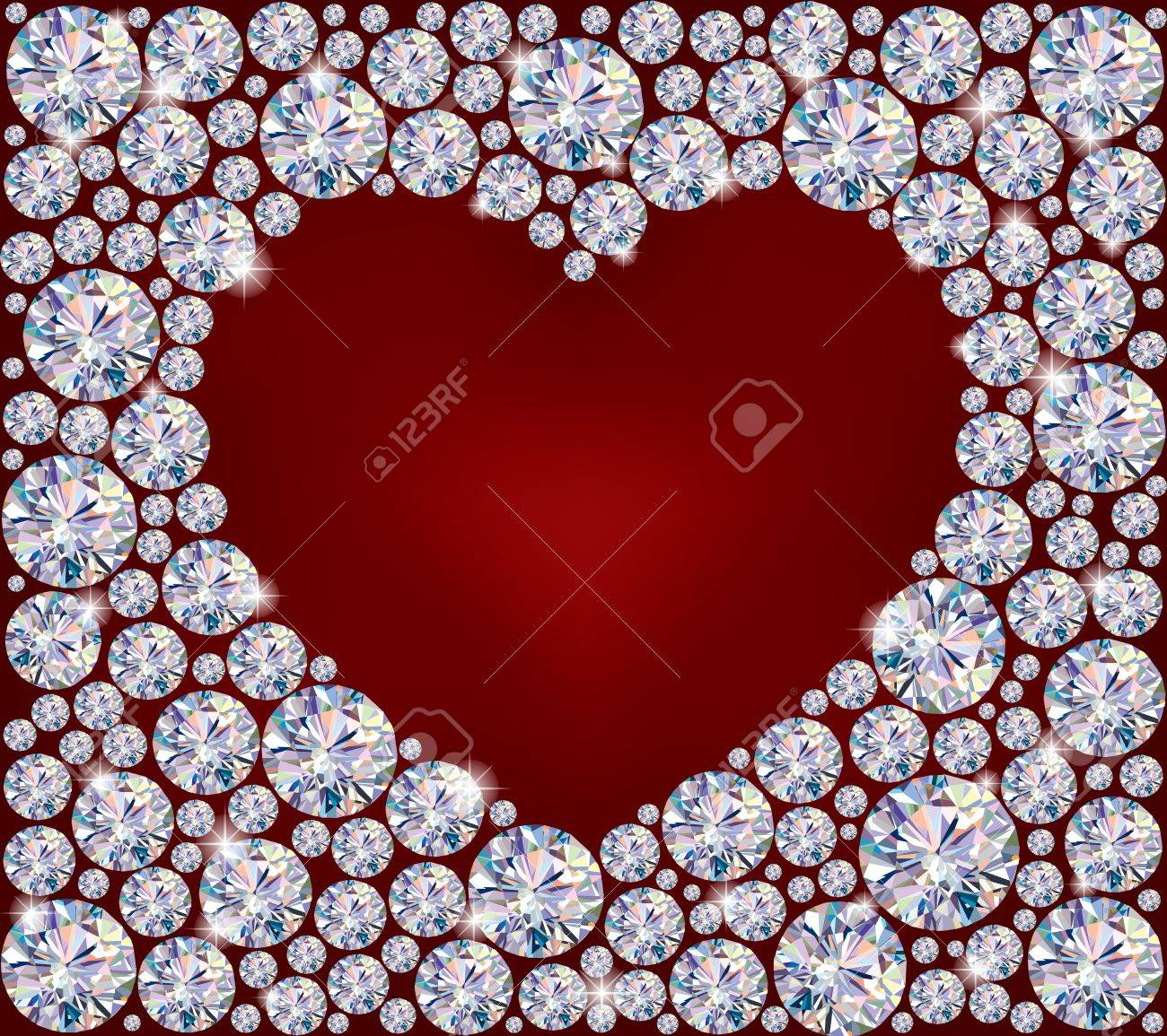 Heart of Diamonds.Illustration contains transparent object. Stock Vector - 16259728