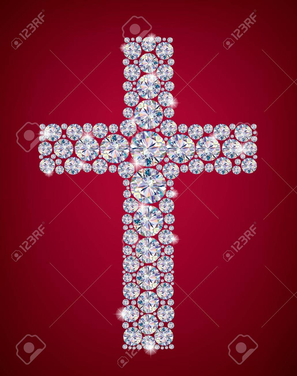 Cross of Diamonds  Contains transparent objects Stock Vector - 17321967