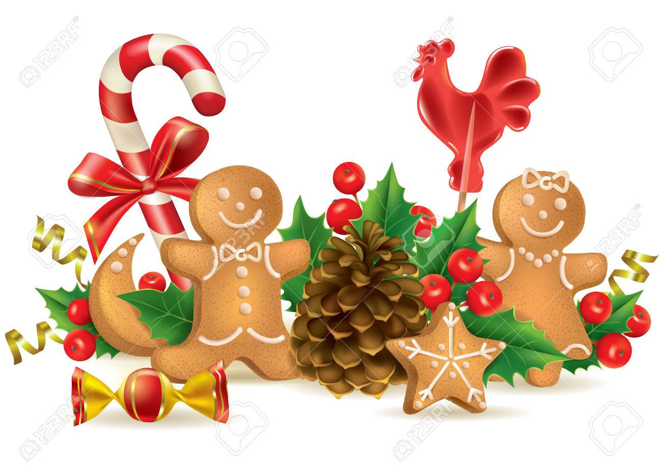 Christmas Candy And Decorations. Contains Transparent Objects ...