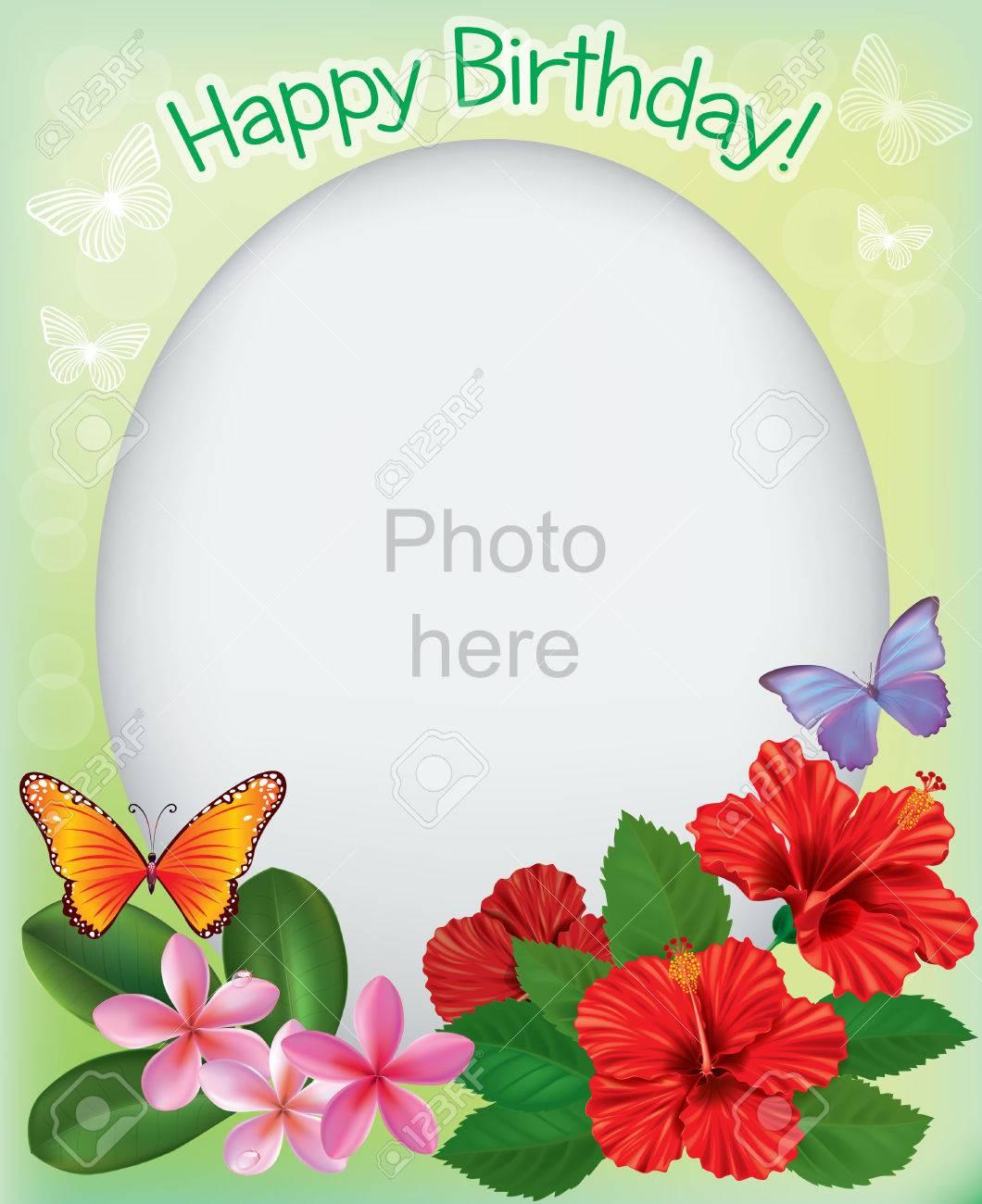 Cumpleaños Marcos Para Fotos. Contiene Los Objetos Transparentes ...