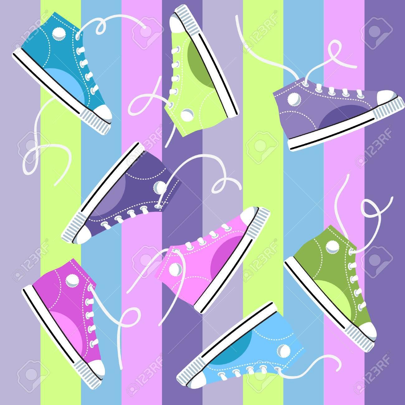 Sneakers Stock Vector - 7859128