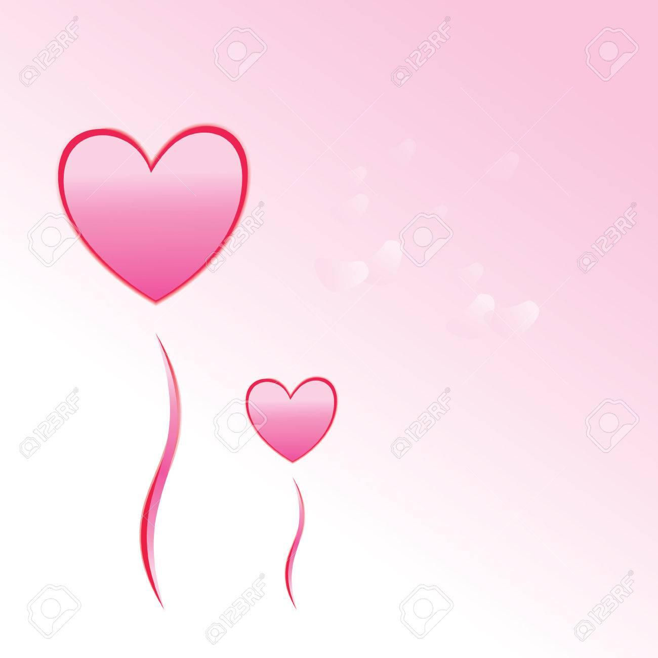 Dos Globos En Forma De Corazón Con Los Pétalos De La Flor De Sakura