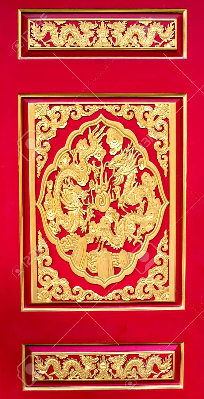 Chinese Style Temple Wall Art Stock Photo, Picture And Royalty Free ...