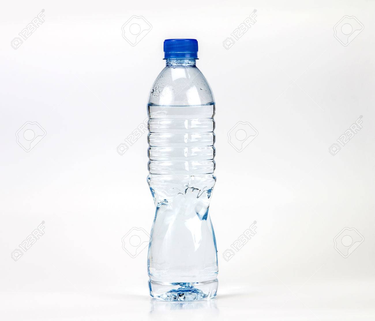 The fresh drink water bottle with small water condense drop inside