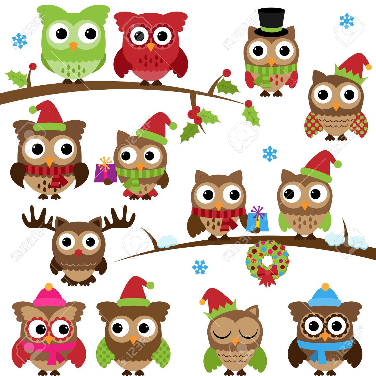 cute snowy owl cartoon