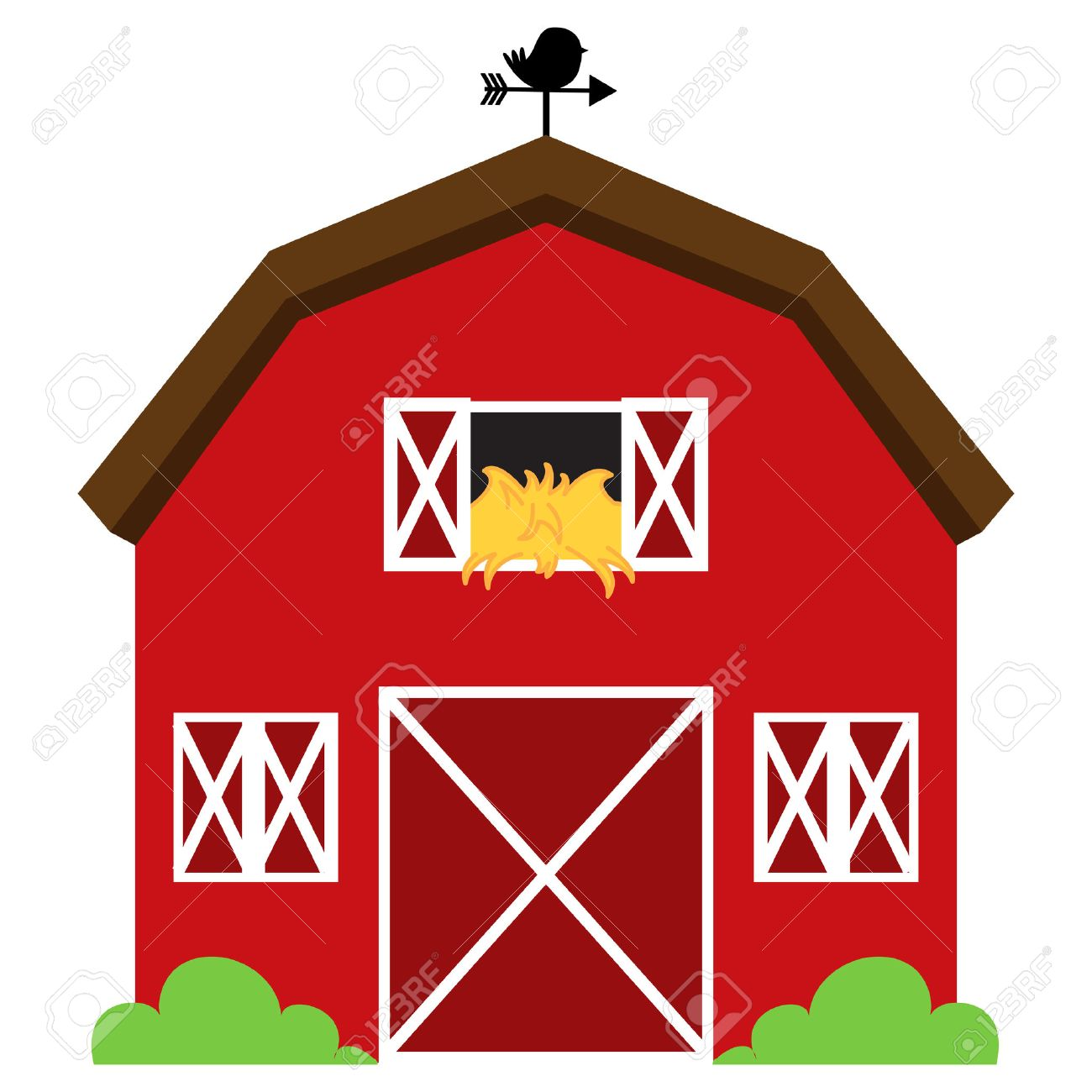 33  Erstaunlich red farmhouse for Red Farmhouse Clipart  568zmd