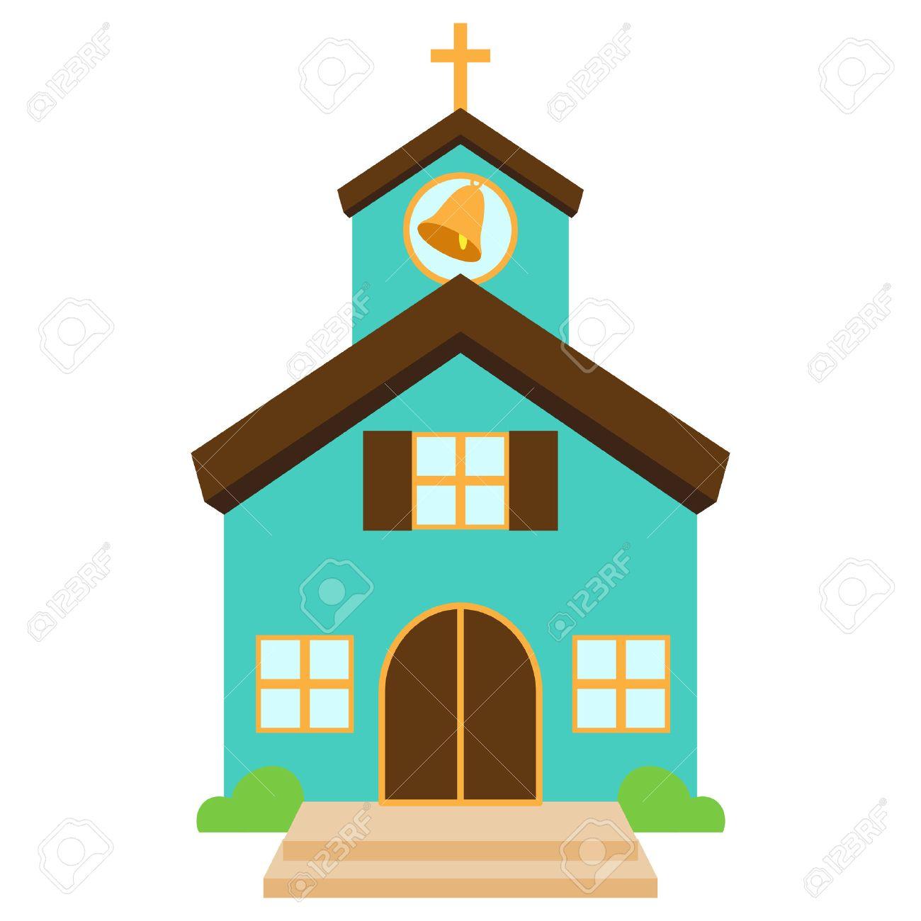 かわいい教会またはチャペルのベクトル イラストのイラスト素材ベクタ
