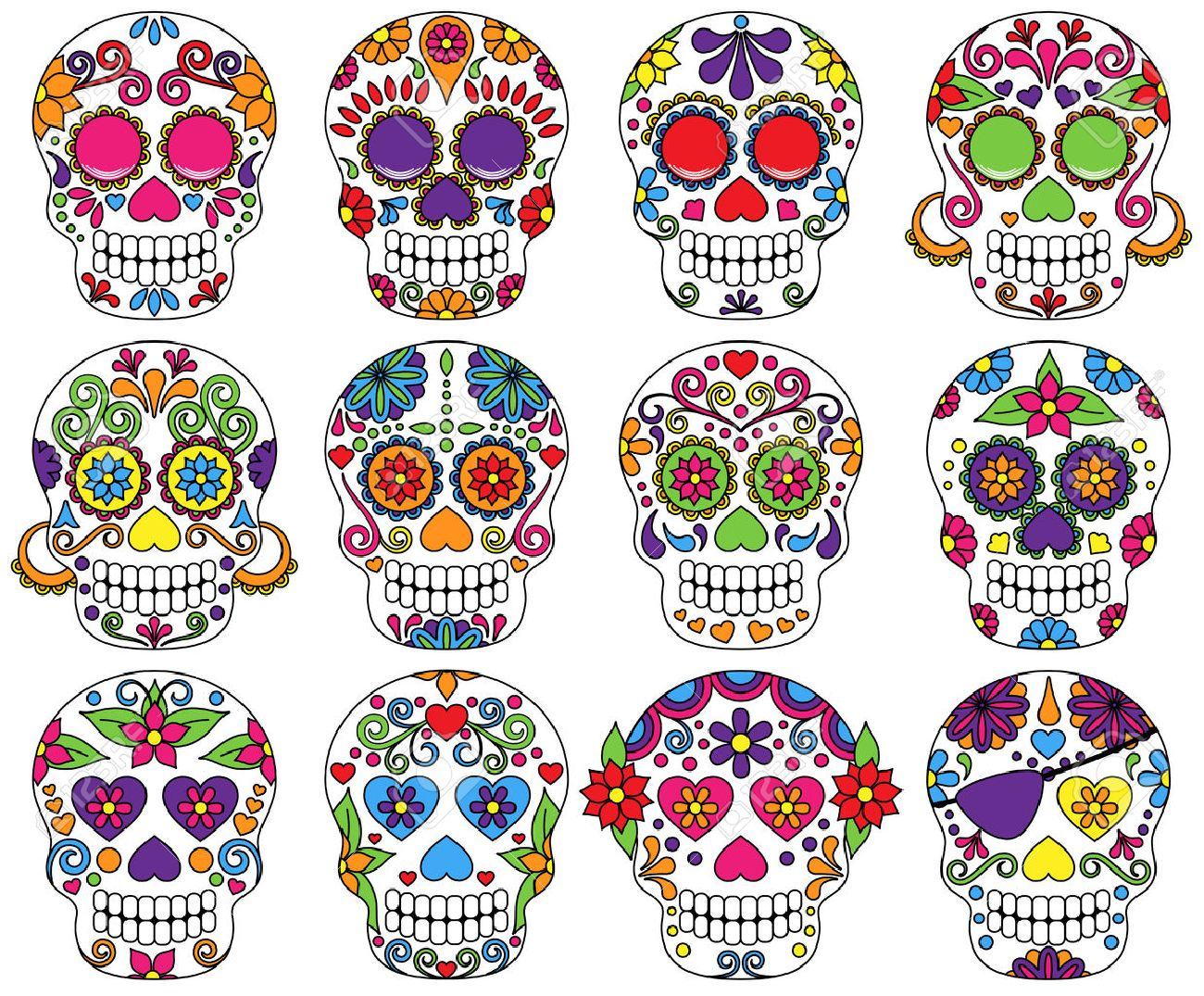 9 482 day of the dead cliparts stock vector and royalty free day