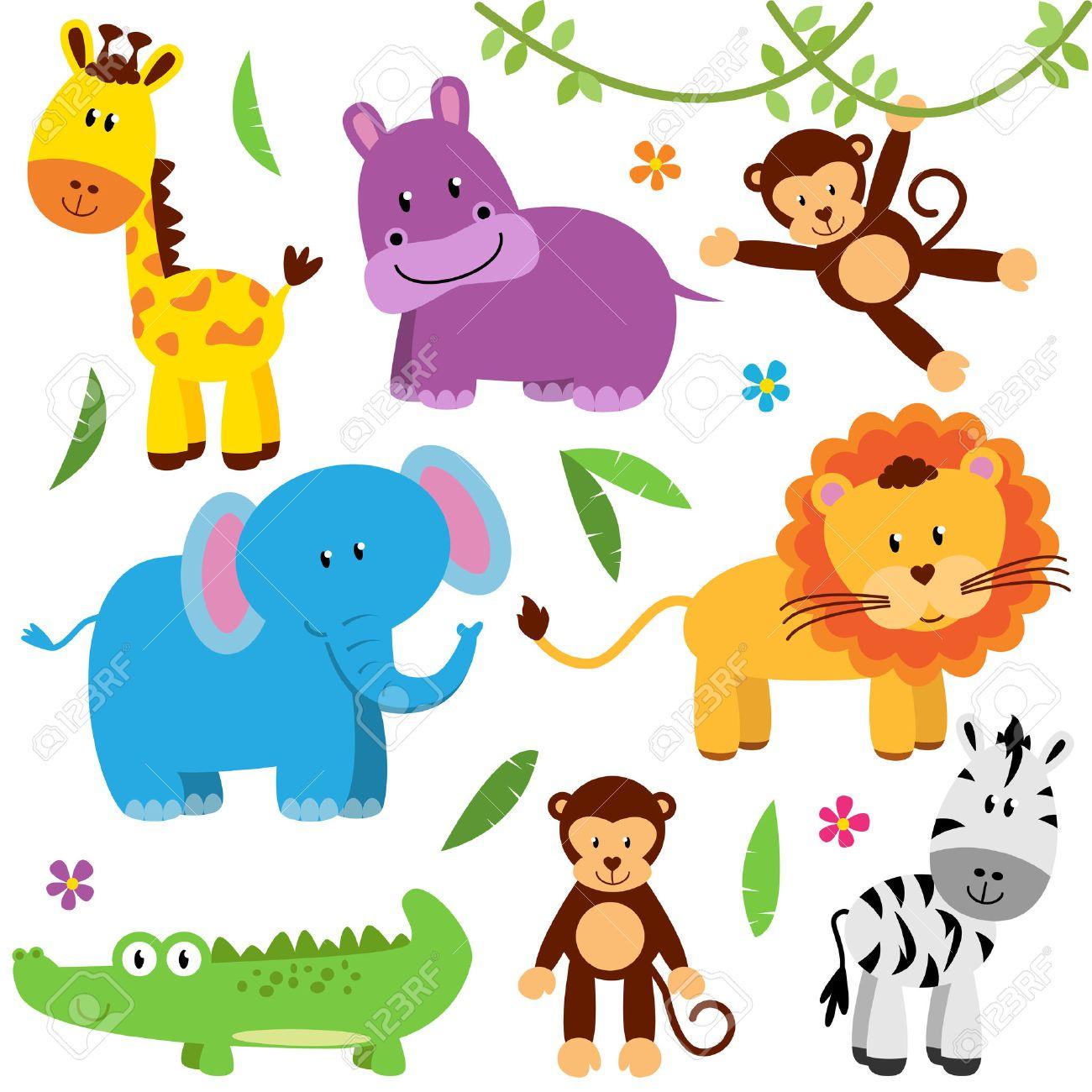 Cute Vector Set of Zoo Animals Stock Vector - 40603591