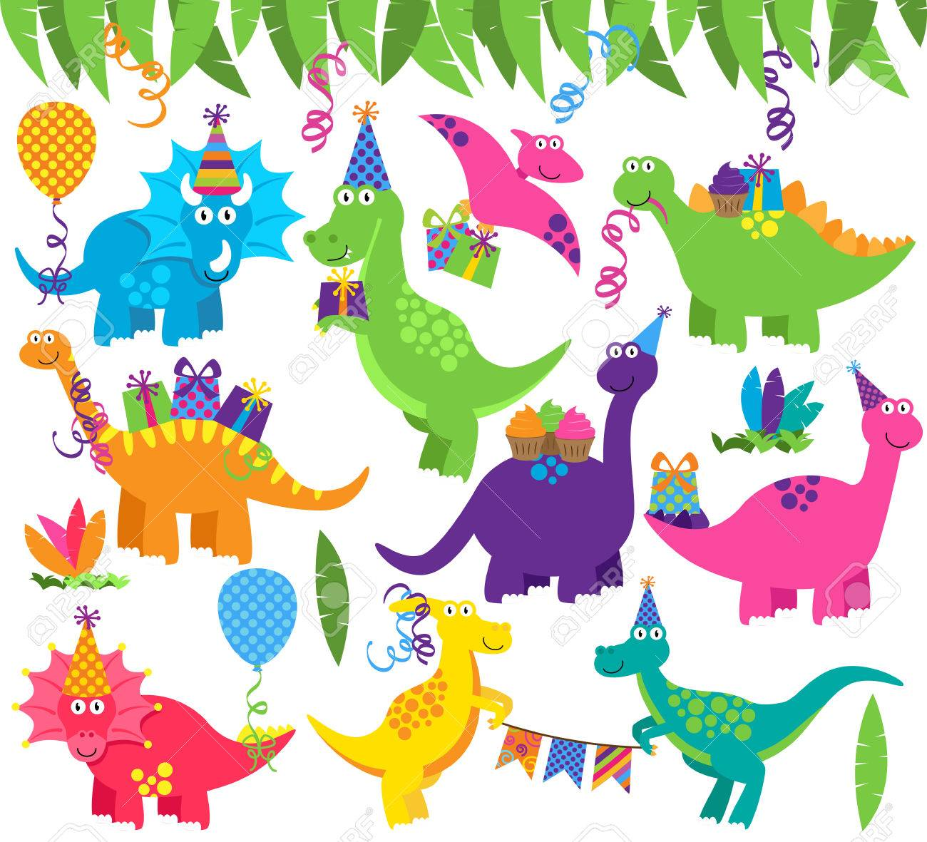 Collection of Birthday Party or Party Dinosaurs and Decorations - 59123492