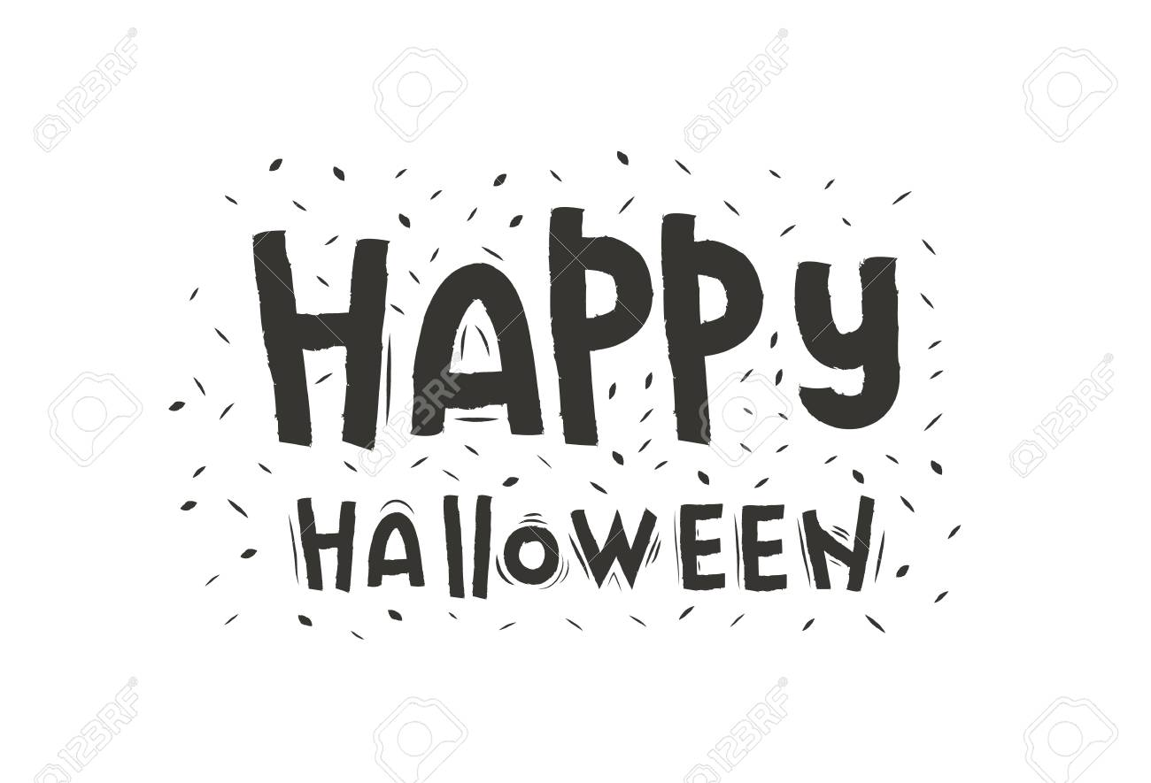 Halloween Lettering Happy Halloween Text Banner Font Design Royalty Free Cliparts Vectors And Stock Illustration Image 110832559