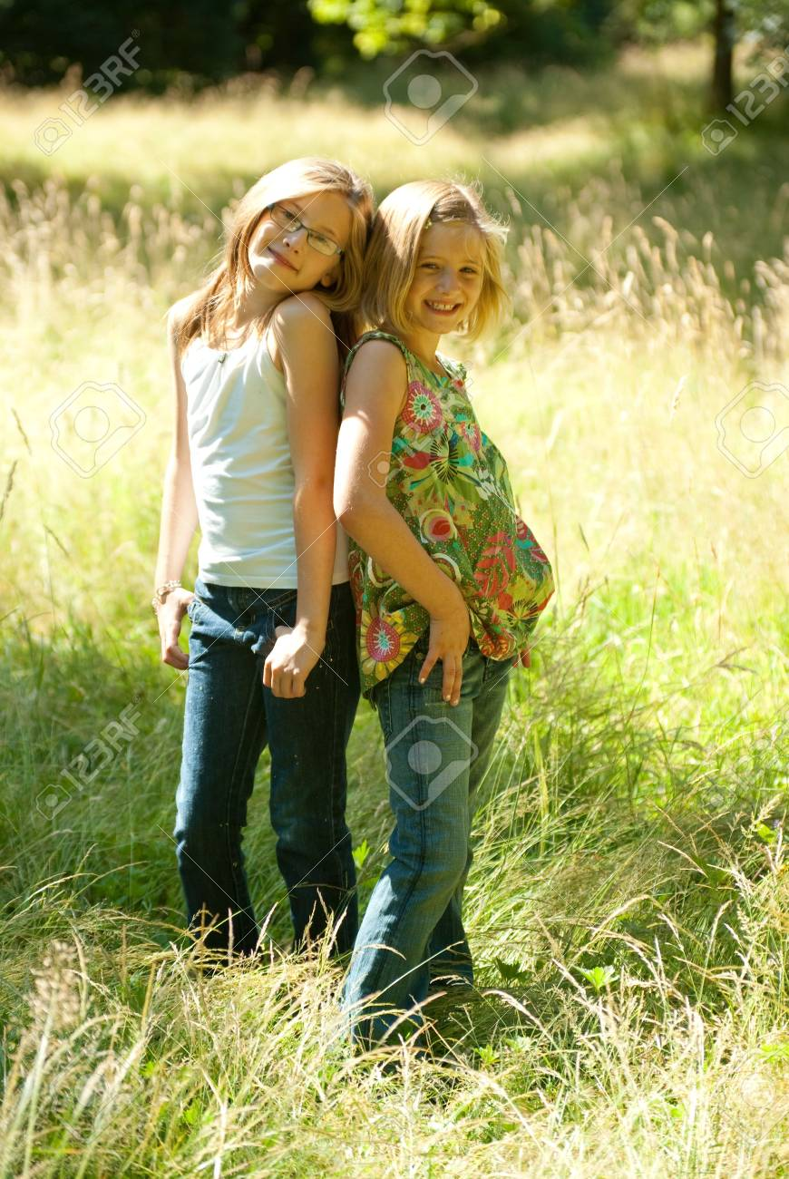 Cool Sisters Stock Photo - 5350564